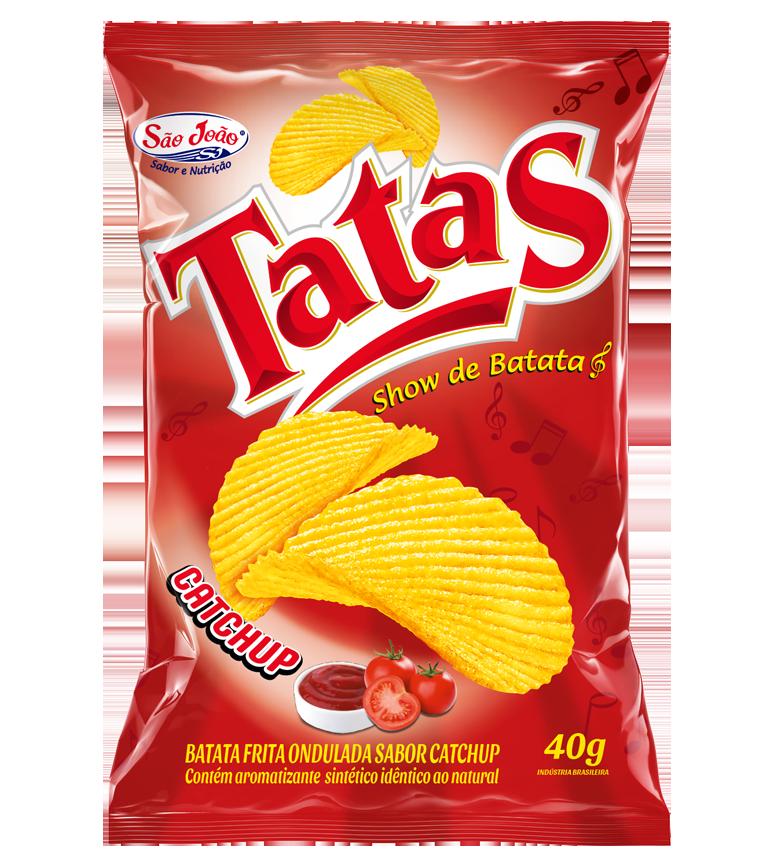 batata chips ketchup
