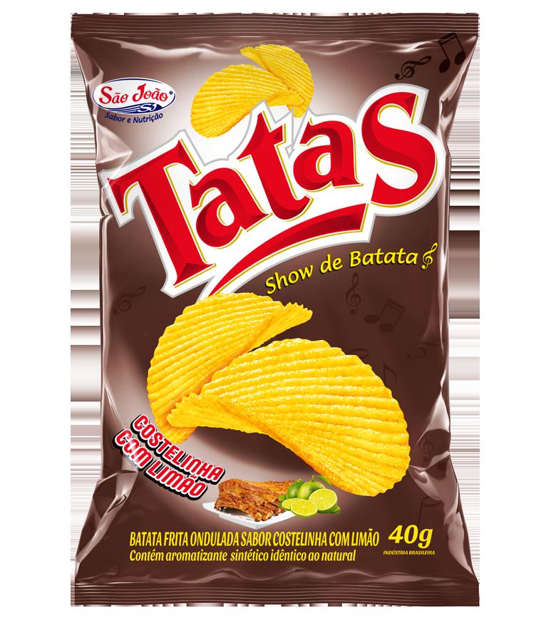 batata chips costelinha com limão
